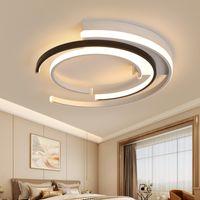 기하학적 현대 램프 LED 링 천장 조명 로프트 IIVNG 룸 라이트 침실 북유럽 인테리어 조명기구