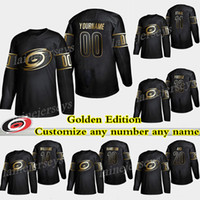 Carolina Hurricanes Golden Edition 20 Sebastian Aho 86 Teuvo Teravainen 14 Justin Williams Personalize qualquer número qualquer nome camisas de hóquei