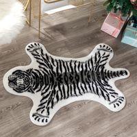 cuero de piel de tigre impresa nueva vaca Alfombra leopardo del tigre Impreso de cuero de vaca imitación antideslizante antideslizante Mat impresión animal de la alfombra