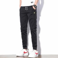 QMGOOD 2020 Mode en vrac Sarouel Hommes Jeans Denim Pantalons Summer Wash Hip Hop Work Jeans Streetwear Black Men