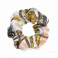 Красочная Ins круга волосы Резинка Девушка Женщина хвостик хвостик Traceless Hairbands Флора Дизайн Shivering волосы кольцо аксессуары D51105