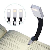 LED 읽기 라이트 USB 충전 라이트 나이트 라이트 클립 라이트 3 모드 조정 책 램프 실버 폴더