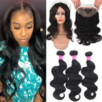 9A Brazilian Body Wave Human Hair With 360 Full Lace Closure...