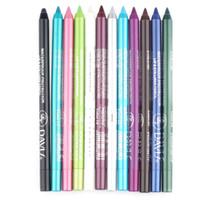 12 قطعة / الحقيبة ماء طويلة الأمد كحل قلم رصاص لون أبيض اللون العين بطانة القلم ماكياج أدوات