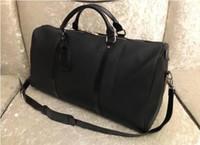 3 cores 55cm grandes mulheres de capacidade viajar sacos homens ombro mochilas bagagem de mão keepall rebites de fundo com mochila cabeça de bloqueio