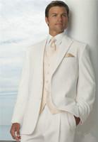Популярные две кнопки жениха пика отворот жениха смокинги мужские костюмы свадьба / выпускного вечера лучший блейзер (куртка + брюки + жилет + галстук) 555