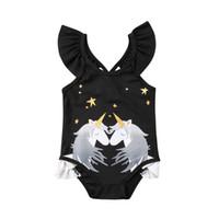 يضم 2020 الموضة في الاطفال الرضع بنات يونيكورن ثوب السباحة ملابس السباحة لطيف الأزياء الصيف طباعة أنيقة جميلة CH
