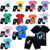 Hot ventes Tik Tok Kids T-shirt Short en coton confortable respirant à manches courtes enfants Vêtements pour enfants Shorts TikTok T-shirt