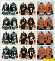 Nouveau style Mighty Anaheim Ducks Hockey 8 Teemu Selanne 9 Paul Kariya 10 Corey Perry 15 Ryan Getzlaf 17 Maillot Ryan Kesler