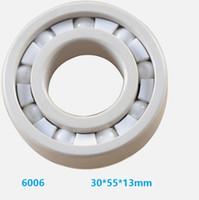 6pcs / 10pcs 6006 ZrO2 completa 30x55x13mm rolamento cerâmica Zirconia Óxido rolamentos rígidos de esferas de cerâmica 30 * 55 * 13 milímetros