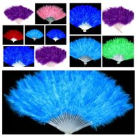new Elegant Feather Fan Halloween decoration Party Stage Performances Folding fan Christmas Halloween Party Supplies hand fanT2I5325