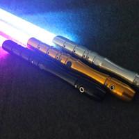 Новинка освещения мини RGB Lightaber металлический меч Косплей мальчик GRIL ESPADAES звезды игрушечный лазер мигает дети свет SABER USB LED Luke Toys подарок ITOO