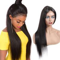 Lace Front Perücken traight 150% Dichte Menschenhaar-Perücken Lace Front Perücken Midpoint Natürliche Glattes Haar 07