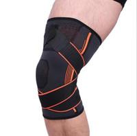 실외 무릎 달리기 무릎 1 개 남자 여자 농구 압력 보호 무릎 스트레치 운동과 보호자 승마