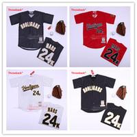 Herren Bruno Mars 24k Hooligans Jersey Alle stabulierten BET Awards rot weiß schwarz Baseball-Trikots Größe S-3XL