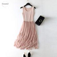 여름 여자 드레스 섹시한 레이스 캐주얼 긴 드레스 여성 핑크 파티 Vestidos 플러스 사이즈 여성 Mujer 디자이너 옷