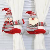 Titular de la cortina de clip de Santa Claus cortina de Navidad linda muñeca hebilla de Tieback Colgando Elk Cortinas Tie Back Home Decoración de Navidad