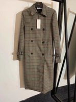 classic women england middle long trench coat British double...