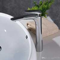 Black White Chrome Plated Deck Mounted Basin Faucet Solid Br...