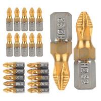 10PCS 25MM 1 / 4INCH PH2 المغناطيسي مفك القطع شانك التيتانيوم المطلي مفك القطع الكهربائية حفر أدوات القطع الطاقة