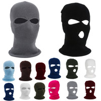 2 And 3 Hole Full Face Mask Ski Mask Winter Cap Balaclava Hood Motorbike Motorcycle Helmet Full Face Helmet Army Protection Mask HH9-2975