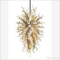 فريدة من نوعها ديكور مورانو الثريات مصابيح أعلى تصميم ملون اليد المنفوخ كريستال الثريا غرفة المعيشة