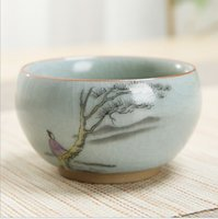 Usted horno de la taza de té vierta proceso cerámico de una taza, paisaje pintura poética taza de té de la personalidad Master Cup esmalte de color