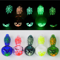 4. 0inches Glow In The Dark Smoking Pipe Tobacco Hand Pipe Gl...