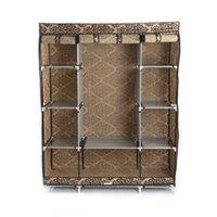 Мебель для спальни Простота для установки Главная Современная ретро-одежда для хранения одежды 4-слойный европейский стиль Узор нетканый ткань гардероб