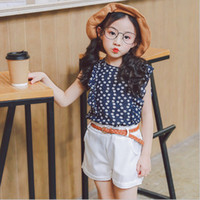 3PCS Set baby girl Summer clothing set blue floral chiffon s...
