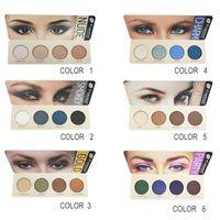 Farres 4 Farben Earth Tone Matte Face Makeup Lidschatten für Smoky Eyes Makeup Wasserdichtes langlebiges Naturaugen-Kosmetikwerkzeug