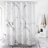 Doccia in marmo a grana tenda bagno vasca tessuto poliestere impermeabile tenda albergo bianco stampa digitale mordern e decorazioni per la casa