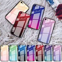 Temperli Cam Degrade Renk Kapak Kılıfları Için iphone 13 Pro Max 12 Mini 11 XR Samsung S20 Artı S21 Ultra Not 20 A72 A52 5G A51 A71