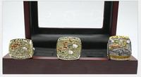 Atacado Super Bowl Golden Horse Super Bowl 1997 1998 2015 Campeão Anel Three-Piece Set