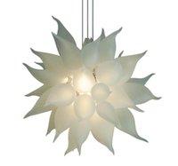 Современная круглая светодиодная хрустальная люстра освещает белый свадебный дом декоративная подвеска подвесной светильник ручной выдувной стеклянный люстра освещение