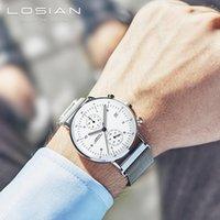 Art- und Weisearmbanduhr-Mens-Uhr-Spitzenmarken-Luxus für Kalender der Mann-2018, leuchtende Hände Montre Homme Marque De Luxe wasserdichtes Y19051503