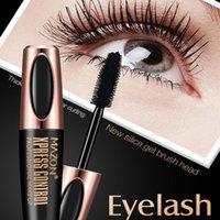 Macfee 4D Fibra De Silk Eyelash Maquiagem Impermeável Escova De Silicone Cabeça Head Máscara Alongamento Espesso Rímel Navio Grátis