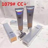 CC + الكريمات المتوسطة ضوء BB CC + الكريمات 1079 # الفضة UVA UVB ماكياج 50+ قاعدة الغلاف المتطرفة تغطية السائلة مؤسسة التمهيدي DHL الشحن المجاني