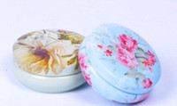 100 unids Floral Caja de Tanque de Almacenamiento de Hierro Pastoral Contenedores Latas de Metal Redondo Café Té Meriendas Candy Tin Contenedor de Almacenamiento Decorbox
