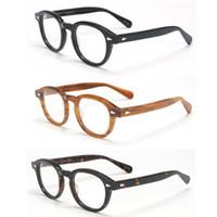 Occhiali da sole moda Cornici Zerosun Acetato Acetato Johnny Depps Glasses Uomo Donna EyeGlasses Piccolo grande grande (135/140 / 145mm) Prescrizione Arrettacoli Tort