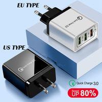 QC 3.0 Téléphone Chargeur USB Charge rapide Chargeur Qualcomm 3.0 5V 3.1A 3USB ports de charge rapide pour iPhone Samsung
