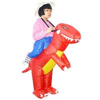 Şişme Dinozor Sürme T-REX Kostüm Cadılar Bayramı Fantezi Bebek için Blow Up Maskot Kostümleri Giydir
