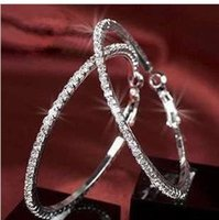 Fashion jewelry rhinestone hoop diamond earrings for women 20 pairs of beautiful full earring versatile earrings free delivery
