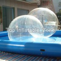 المواد البلاستيكية ذات نوعية جيدة 2M ديا كيد الكبار المياه المشي الكرة للمنزل لعبة الإيجار اللعب على المياه المراعي الثلوج الشحن مجانا
