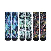 Hombre para mujer moda algodón mezcla largos calcetines colorido contraste color divertido calcetines transpirable masculino hembra largo calcetines largos