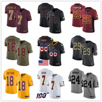 Washington Individuelle Redskin Jerseys Dwayne Haskins Alex Smith derrius Guice Josh Norman Reed Josh Doctson Thompson Männer Frauen Jugend-Fußball