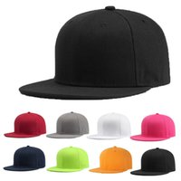 2019 Newly Sports Baseball Cap Blank Plain Solid Snapback Go...
