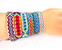 Бусы Непал Национальный стиль стиль ручной работы браслет мульти красочные часы цепи Богемия радуга Lucky Freindips ручной веревка