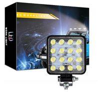 LED Work Light - Barra de luz LED de inundação de 48W para trator Offroad Truck Atv UTV SUV Lâmpada de Condução Daytime Luz