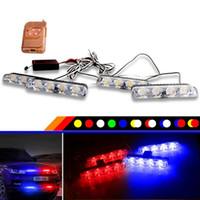 1 set DC 12V auto camion luce di emergenza 4X4 led luci lampeggianti auto-styling polizia luce stroboscopica spia